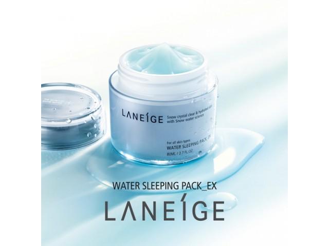 Laneige Water Sleeping Pack, Innisfree Green Tea Sleeping Pack, Vichy Aqualia Thermal Night Spa Sleep Mask (4)