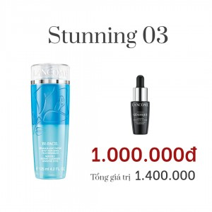 Combo Stunning 03: Tẩy trang Lancôme cho cả mặt và mắt BI FACIL EYES 125ml,Tinh chất trẻ hoá làn da Lancome,ADVANCED GÉNIFIQUE DOUBLE DROP 4ML